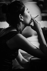 Women sitting in Espresso Bar, Bali (Angelo Daniel Prinz) Tags: bnw bw bali black blackandwhite bnwgreatshots bokeh bwmania bwmaniac bwphotography contrast monochrome portrait porträit sanur schwarzweiss silouette porträt legian
