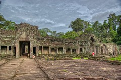 Temple ruins of Preah Khan in Angkor Archeological Park near Siem Reap, Cambodia (UweBKK (α 77 on )) Tags: preah khan temple ruins ancient history historical angkor archeological park archeology stone siem reap cambodia southeast asia sony alpha 77 slt dslr architecture building