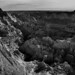 Badlands in Sunlight and Shadows (Black & White, Badlands National Park)
