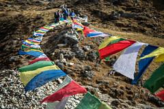 Prayers flags in the wind at Keche La pass - Gasa District - Snowman Trek - Bhutan (PascalBo) Tags: nikon d500 asie asia southasia asiedusud drukyul drukgyalkhap bhutan bhoutan འབྲུག་ཡུལ། འབྲུག་རྒྱལ་ཁབ་ snowman trek trekking hike hiking lunana gasa himalaya himalayas jigmedorjinationalpark mountain montagne buddhism bouddhisme religion outdoor outdoors pascalboegli