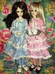 Faith and Hope having tea (Jeanne1931) Tags: sweetlolita tea teaparty innuendo goodreaudolls