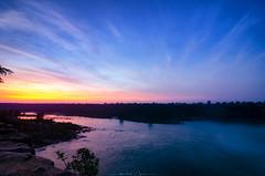 Cerulean Sky (_Amritash_) Tags: ceruleansky sky sunset sunsetlights sunsetcolors sunsetsky sunsetpoint river landscape silhouettes chhattisgarh travel travelindia bastar dusk