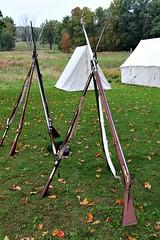 GUNS AT THE READY (MIKECNY) Tags: tent rifle musket british americanrevolution history newyork gun 1777 saratogabattlefield
