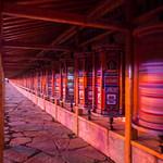 At night by the prayer wheels thumbnail