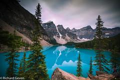 Moraine lake Canada (Richard Geven) Tags: canada lake water purple blue mountains layers joy clear sky freedom beaty nature alone wonder wonderfull huge secret secretisland indians amazing