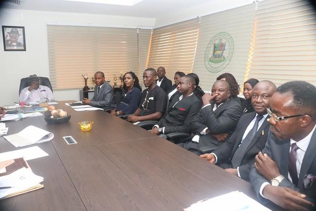 HSDickson - Courtesy Visit by Barr Dise Sheila Obise- Erhisere Chairman NBA Sagbama Branch.