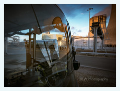 Seat Of Power!  Explored.  31-10-2018. (-Metal-M1KE-) Tags: drax drawpowerstation 66711 bardonaggregates coolingtowers train sence austinpowers 4n25 emd 66 shed reflection reflections