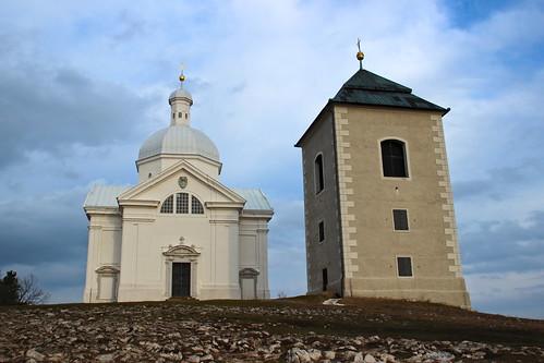 Chapel of st. Sebastian with belfry in Mikulov