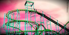 "Ocean City, MD ""Colorized coaster tracks"" (delmarvausa) Tags: jollyroger amusements pier oceancitymd ocmd maryland amusementrides rollercoasters rollercoaster jollyrogeratthepier oceancity boardwalk rides summer boardwalkpier summertime oceancitymaryland color delmarva delmarvapeninsula easternshore midatlantic coastaldelmarva eastcoast beachtown coaster amusementpark rollercoasterride amusement oceancityboardwalk track ride tracks"