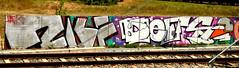 Trackside graffiti (wojofoto) Tags: graffiti streetart railway spoor spoorweg trackside nederland netherland holland wojofoto wolfgangjosten defs
