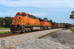 NS 732 (Steve Hardin) Tags: locomotive engine es44ac h2 burlingtonnorthernsantafe bnsf norfolksouthern railway railroad railfan coal hopper train junction seney georgia