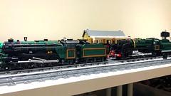 Green with red stripes (Britishbricks) Tags: lego wip lner br steam engine moc british 9f v2 train loco evening star