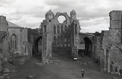 Elgin Cathedral, Elgin, Scotland (AJH_1) Tags: kodak tmax 400 35mm olmypus om1 50mm september 2018 scotland monochrome bw blackandwhite elgin cathedral highlands architecture ruins building