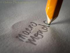 Pencil and Paper (HMM) (13skies (broke my wrist)) Tags: hmm pen pencil perfect perfectmatch paper macro macroscopic macromondays macromonday close writing happymacromondays words flow view lead graphite communicate read depthoffield dof