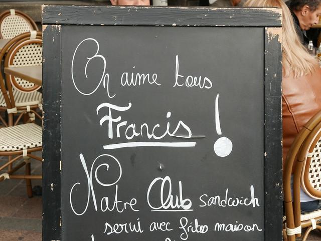 Francis, the Sandwich man