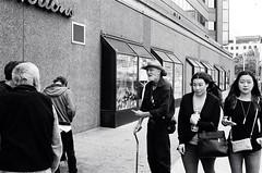 "Street people Parliament: Hamilton Street Series (Xsbmrnr (Please read profile before ""following"") Tags: blackandwhite bandw downtown 35mm 35mmfilm film filmphotography hamilton hamiltonontario hamont hc110 kodak olympusom1 olympus om1 people street streetphotography streetpeople trix trix400 urban urbanphotography zuiko zuiko35mm"