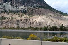 Thompson Canyon - BC (Carneddau) Tags: britishcolumbia canada highway1 thompsoncanyon thompsonriver transcanadahighway barerock erodedrock fromcar spencesbridge ca