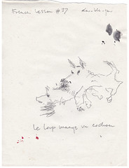 French lesson #37 (dou_ble_you) Tags: drawing penciloningrespaper 225x18cm doubleyou