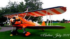 Aerosuperbatics Boeing Stearman #2 (First Choice 360 Mediaworks) Tags: aerosuperbatics flying circus wingwalking team wing walkers raf rendcomb breitling boeing stearman stunt plane stuntplane orange