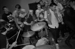 2018-10-15-0030 (fille_ennuyeuse) Tags: big zit chicago punk hardcore bands 35mm black white film ilford delta 400 delta400 analog photography normal records kevin joe eric kahler bored straight tenement tom amos coltranes animal sacrifice gas rag albion house riverwest milwaukee jj spencer