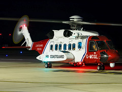 HM Coastguard | Sikorsky S-92A | G-MCGL (Bradley's Aviation Photography) Tags: egsh nwi canon70d norwich norwichairport norfolk saxonair night nightphotography longexposure nightphotos helicopters heli helicopter rotors hmcg hmcoastguard coastguard s92 sikorskys92a bristowhelicopters gmcgl