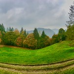 Autumnal panorama in Breitenau near Kiefersfelden, Bavaria, Germany thumbnail