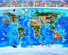 Map of the World Mural - 41851 (decocentrum) Tags: 12 part mural részes poszter walltastic 3d popout collection spiderman disney fireman sam heroes interior children design wall gyerek faldekoráció