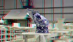 Blueware De Porceleyne Fles Delft 3D (wim hoppenbrouwers) Tags: deporceleynefles delft 3d blueware delft3d anaglyph stereo redcyan