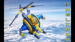 Heli-Pod Movie (David Roberts 01341) Tags: lego helicopter technic scifi future fun searchandrescue minifigure synchropter space mechanical toy