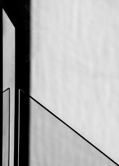Just Lines (gibel49) Tags: bn bnw monochrome lines linee diagonali ombre shadows glass vetro inversione minimal