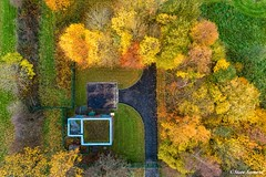The pump house (Steve Samosa Photography) Tags: droneview droneshot drones aerialview aerial autumnleaves autumncolours autumn prescot england unitedkingdom gb