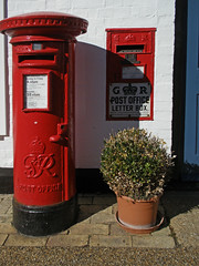 Post Boxes. IP30 2209 (amandabhslater) Tags: suffolk woolpit letter post box red ip302209 grvi