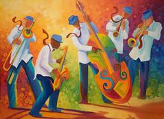 ArtPrize 2018-13 (wsilver) Tags: artprize 2018 art grand rapids michigan jazz color colorful painting bass saxophone trombone trumpet clarinet