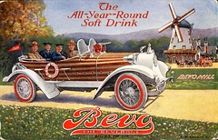 """Bevo, The Beverage: The All-Year-Round Soft Drink."" Advertising Postcard published by Anheuser-Busch. St. Louis, U.S.A. (ca. 1920's) (lhboudreau) Tags: postcard vintagepostcard vehicle car illustration automobile auto cars illustrations vintagecar classiccar ad advertising advertisement advertisingpostcard factorypostcard classy 1920 1920s vintage vintageautomobile people classic grass tree lawn driveway bevo beverage nearbeer brewed breweriana maltbeverage softdrink windmill horse horses wagon mountain mountains anheuserbusch bevothebeverage allyearround nonalcoholic brew bevomill lifesaver cannon soldier sailor wheel text outdoor outdoors tire tires"