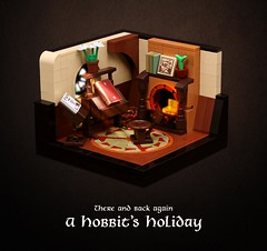 Happy Hobbit Day everybody! (Xenomurphy) Tags: lego moc bricks afol hobbit tolkien bilbo frodo baggins hobbiton hobbitday lordoftherings bagend redbook vignette