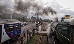Great Central Railway Quorn Leicestershire 30th September 2018 (loose_grip_99) Tags: greatcentral railway railroad rail train leicestershire eastmidlands england uk steam engine locomotive greatwestern gwr modified hall 460 6990 witherslackhall smoke northern diesel multiple unit dmu gassteam uksteam preservation transportation trains railways september 2018