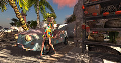 On leaving the summer party late again (Teddi Beres) Tags: second life sl heels baja norte summer beach sand palms lighthouse shoes fashion style footwear