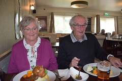 DSC_8965 Scawby Village North Lincolnshire The Sutton Arms English Pub Sunday Lunch Roast Beef and Yorkshire Pudding with Fresh Vegetables Sandra and Gordon Hunter (photographer695) Tags: scawby north lincolnshire village the sutton arms english pub sunday lunch roast beef yorkshire pudding with fresh vegetables sandra gordon hunter