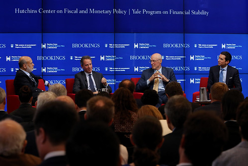 Former Federal Reserve Chairman Ben Bernanke and former Treasury Secretaries Tim Geithner and Hank Paulson look back and ahead in an interview contected by Andrew Ross Sorkin