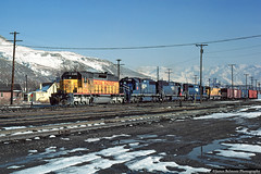 The Screaming Eagles (jamesbelmont) Tags: railway saltlakecity utah northyard topend unionpacific missouripacific screamingeagle emd sd40 sd402 poolpower