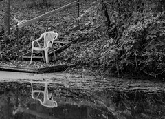The Chair (114berg) Tags: 02october18 plastic chair wooden dock hennepin canal recreational trail geneseo illinois
