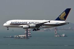 Singapore Airlines 9V-SKY (Howard_Pulling) Tags: hkg hongkong singapore a380 a380800