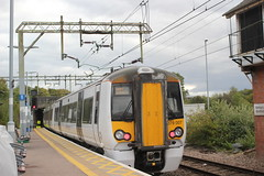 Abellio Greater Anglia . 379007 . Bishop's Stortford Station , Hertfordshire . Sunday 30th-September-2018 . (AndrewHA's) Tags: hertfordshire bishopsstortford railway station abellio greater anglia class 379 electrostar electric multiple 379007 1b85 stansted airport liverpool street london express bombardier derby passenger transport