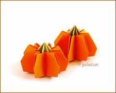 origami pumpkin (polelena24) Tags: origami pumpkin halloween onesheet square