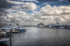 The Harbor at Provincetown (donnieking1811) Tags: massachusetts provincetown harbor boats buildings pier outdoors sky clouds blue hdr canon 60d lightroom photomatixpro greaterphotographers