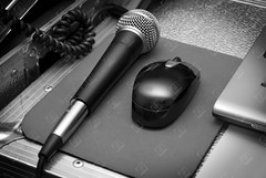 Mic and Mouse (the UMF) Tags: arrangement backgrounds fullframe highcontrast hiphop image imagecreated2000s imagecreated21stcentury imagedate inarow indoors nobody twoobjects urbanscene audio background black blackandwhite computer digital digitally disco dj electric electronic entertainment equipment greyscale horizontal laptop media mic microphone mobile modern mouse multimedia music musical object photograph recording sound studio technology vignette web white youthculture