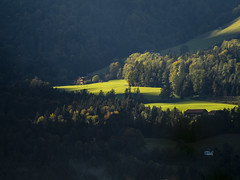 Last Light (samleer) Tags: austria europe autumn sunset contrast mountains mountain alps moody field grass trees light salzburg