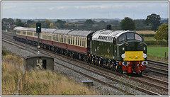 D213 (40013) at Brumber Hill October 6th 2018 (Mark's Train pictures) Tags: d213 class40 40013 locohauledpassengertrain dieselhauledpassengertrain railtour railway railroad yorkshirecoastmerrymaker saphostrains