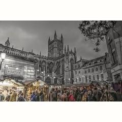 Bath Christmas Market Colour Splash #coloursplash #bathchristmasmarket #photography #PhotographyIsArt #blackandwhitephotography #Twilight (livinginhtab) Tags: twilight photography coloursplash bathchristmasmarket blackandwhite colour christmas market bath crowd