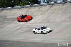 20180929 - Les Grandes Heures Automobiles - Plateau I - Ferrari F430 Spider - 2008 - Chevrolet Corvette C7 - 2014 - S(3009) (Lhermet Photographie) Tags: ferrari ferrarif430 linasmontlhery lesgrandesheuresautomobiles sel18105f4 sonya6000 autodrome montlhery sony sonyilce6000 spider